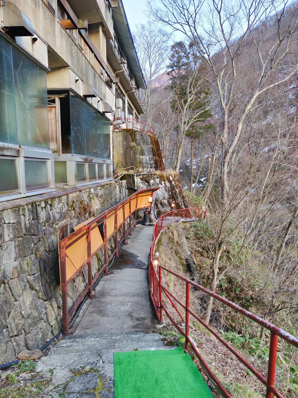 仙人岩風呂への道1