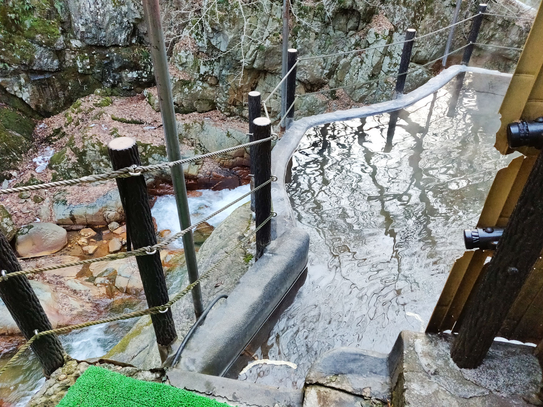 仙人岩風呂 下の風景