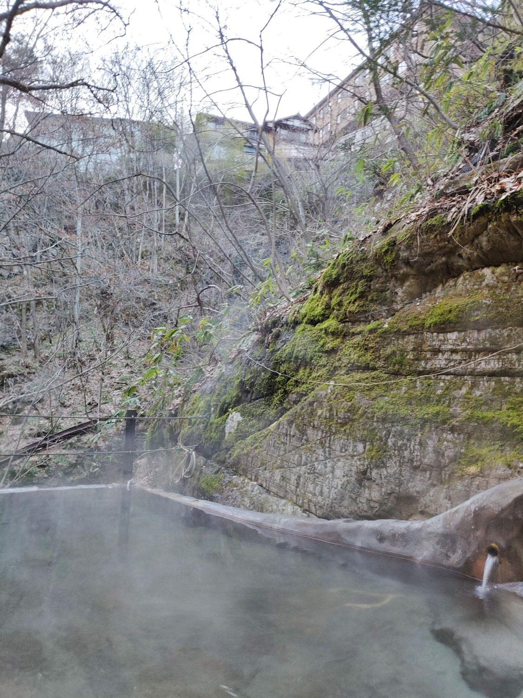 仙人岩風呂 上の風景