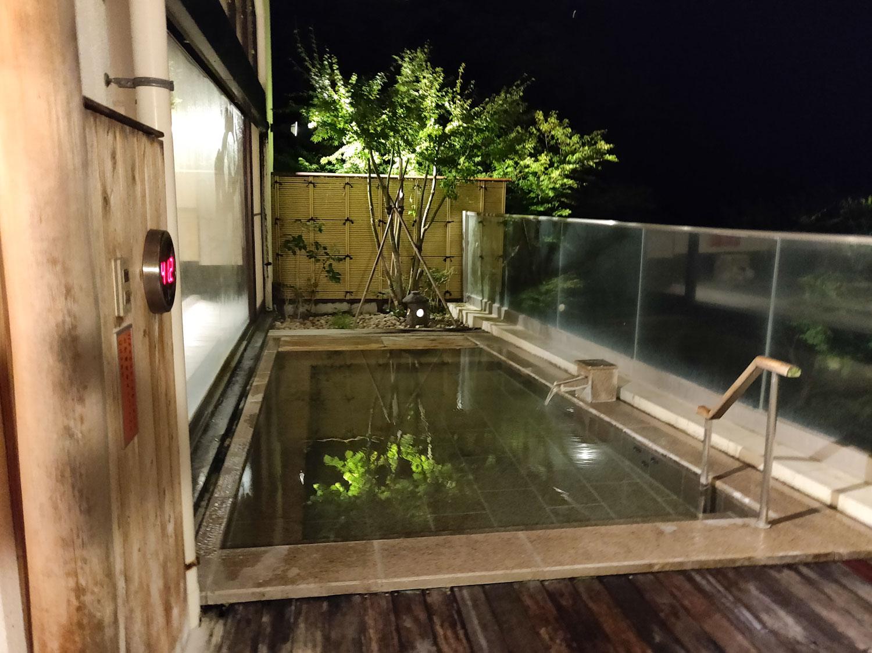 中川温泉信玄館 夢幻の湯露天風呂俯瞰