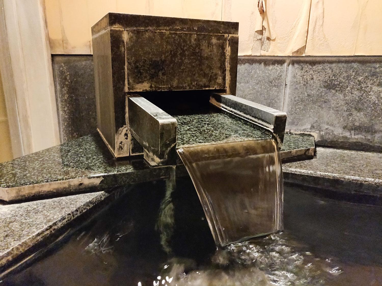 中川温泉信玄館 丹青の湯湯口