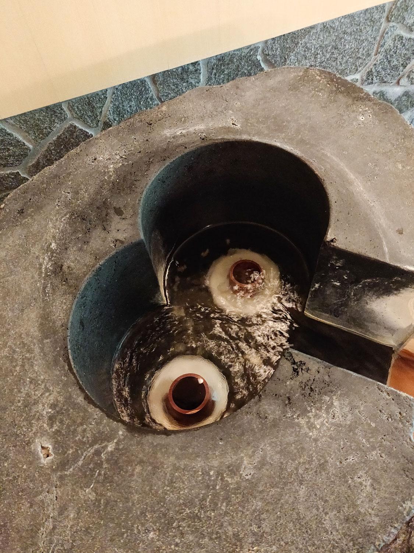 中川温泉信玄館 水光の湯湯口の中