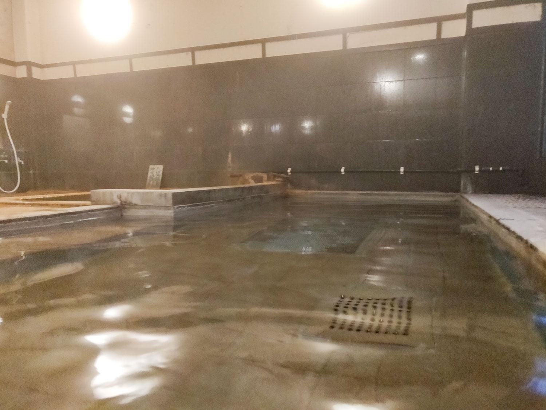 八塩温泉神水館内湯大浴槽入浴中目線