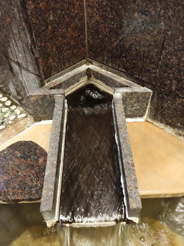 八塩温泉神水館内湯湯口俯瞰