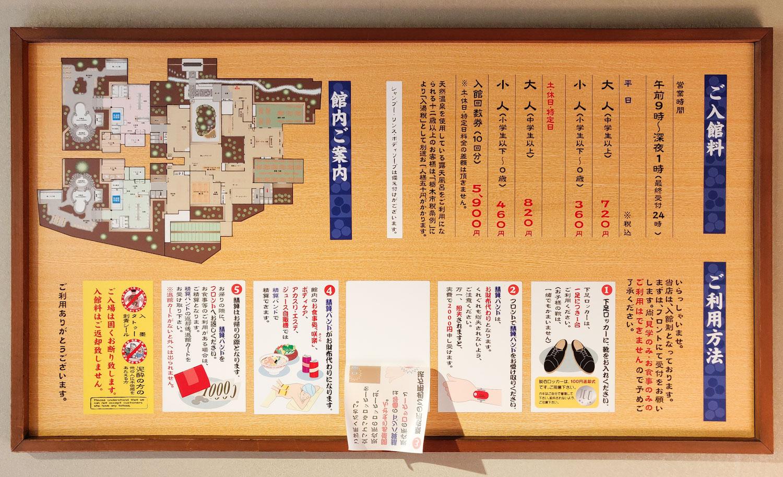 栃木温泉湯楽の里 館内図