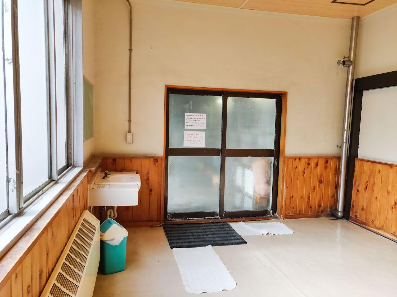 峡雲荘 浴室入口