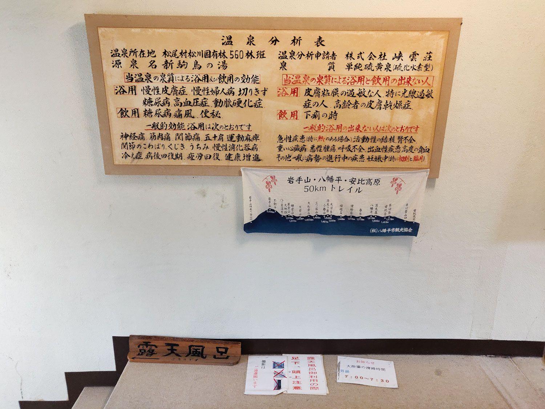 峡雲荘 温泉分析表