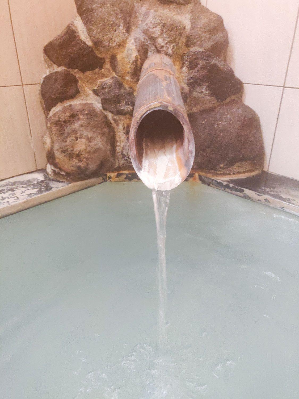 水沢山荘 絆の湯 内湯湯口