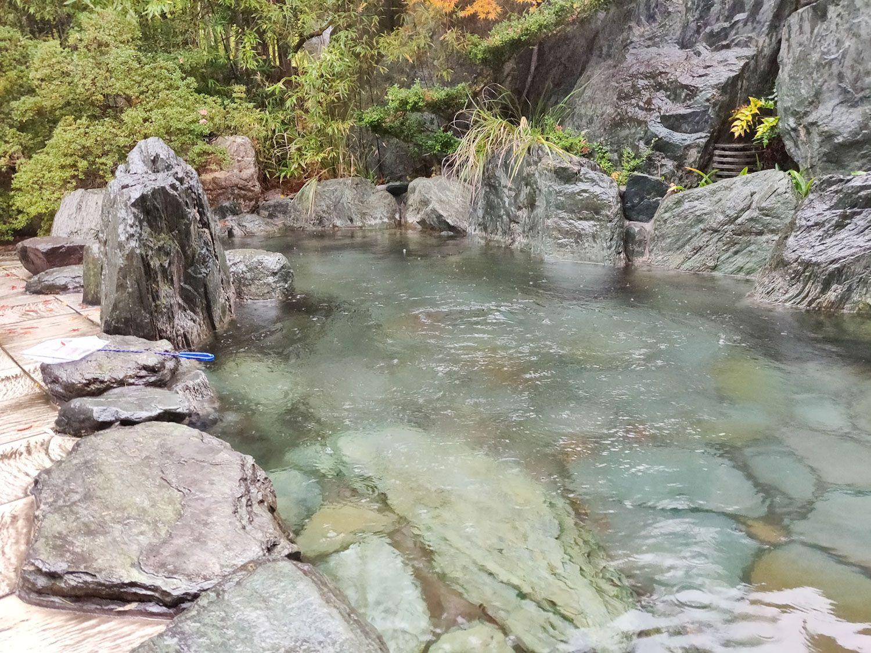 木津温泉ゑびすや 露天風呂