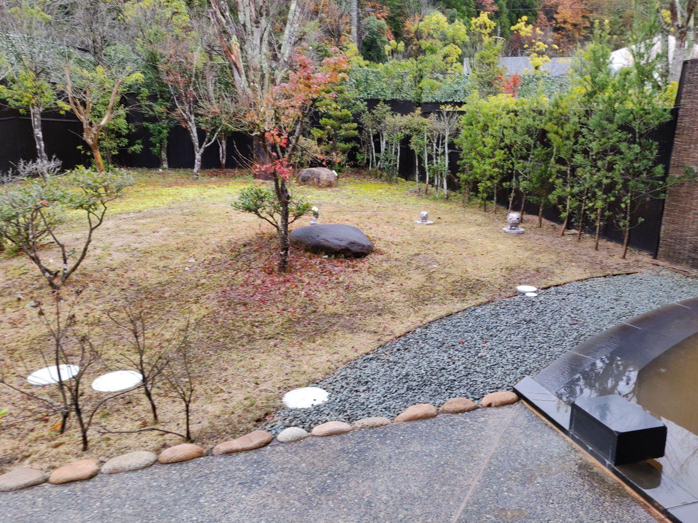 草山温泉やまもりの湯 庭園