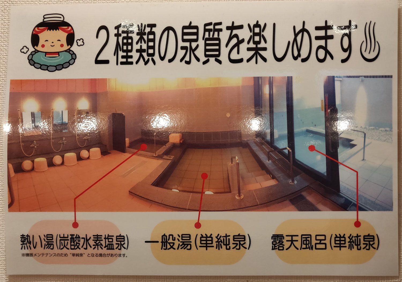 土湯温泉 公衆浴場中乃湯 2種類の泉質を楽しめます