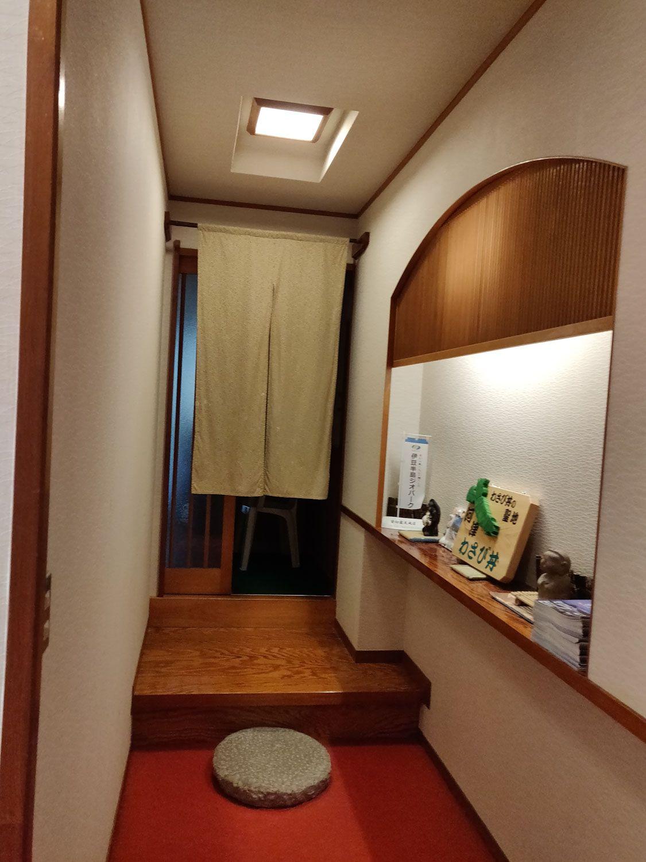 七滝温泉ホテル 家族露天風呂 入口