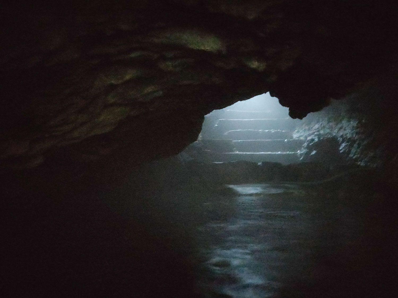七滝温泉ホテル 洞窟風呂 降りてきた方向