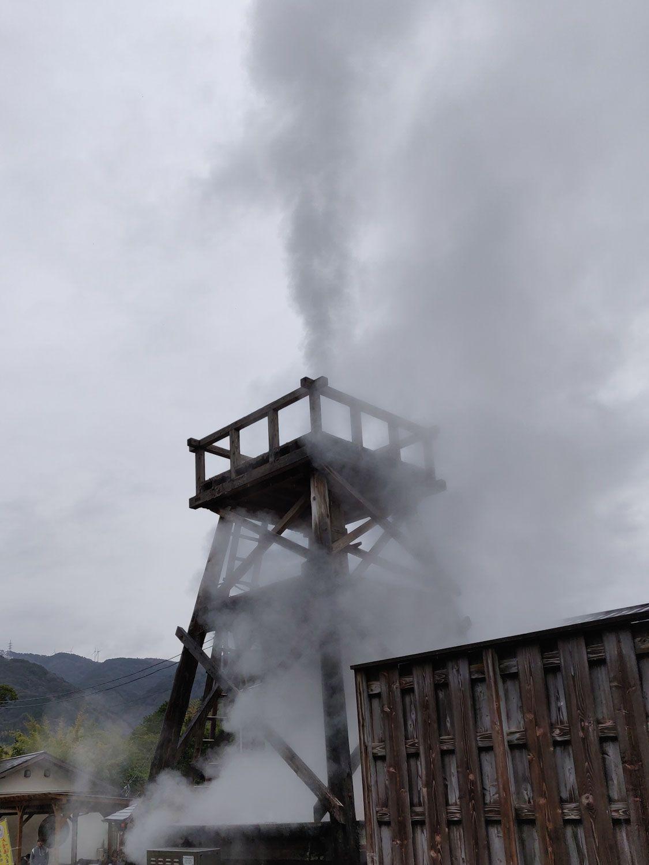 2020/1/12 峰温泉大噴湯と隣の噴湯
