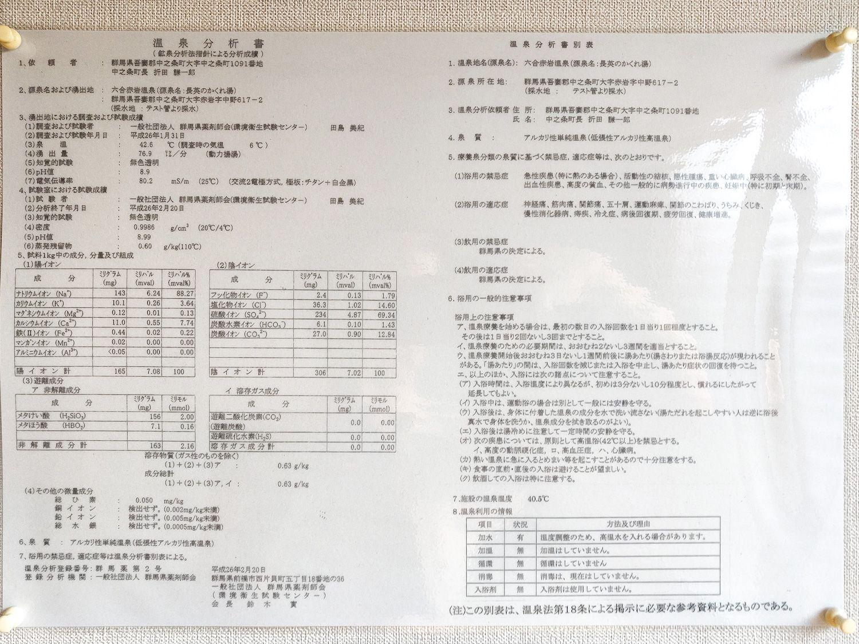 長英の隠れ湯 温泉分析書