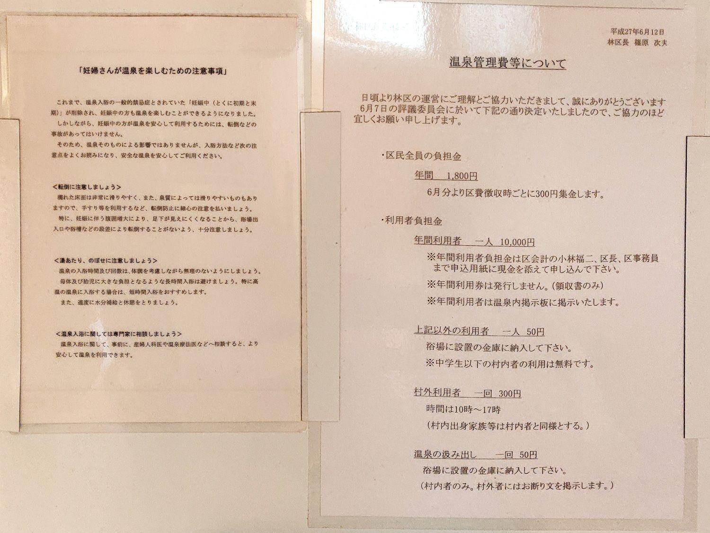 林温泉 温泉分析書別表