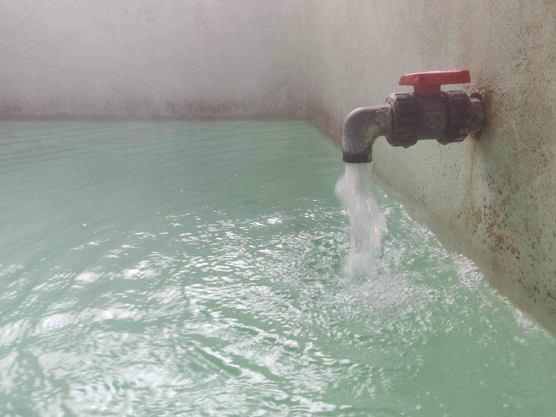 瑠璃の湯 湯口