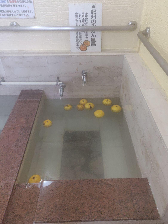 椿温泉 しらさぎ 紀州のみかん風呂
