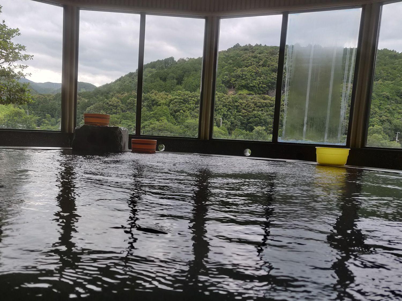 えびね温泉 浴槽からの景色