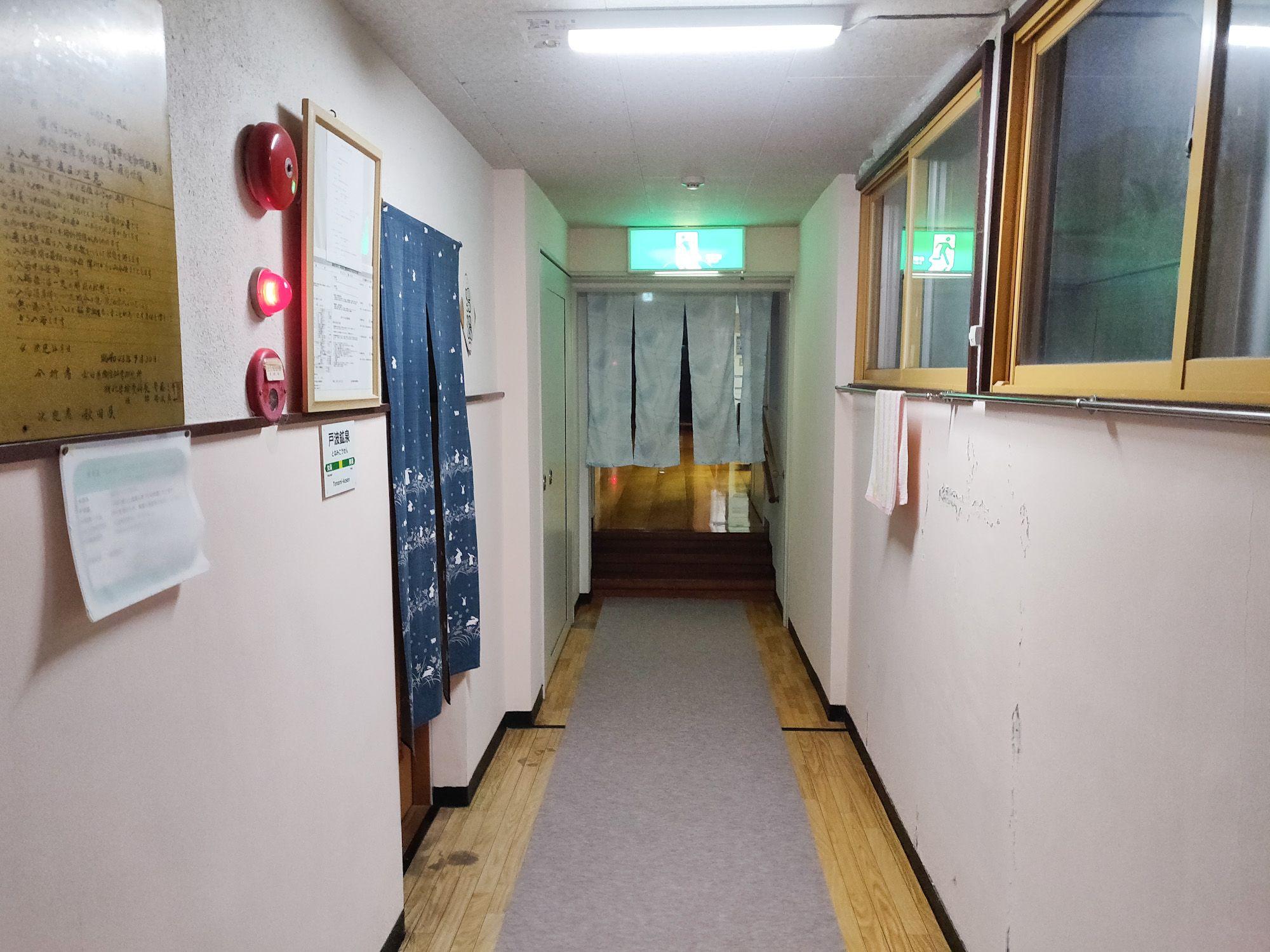 戸波鉱泉 廊下