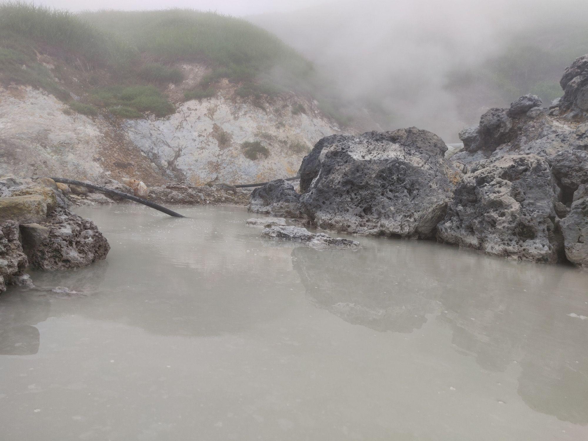 奥藤七温泉 入浴中目線
