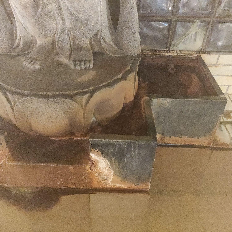 熱塩温泉 ふじや 観音風呂 観音の足下