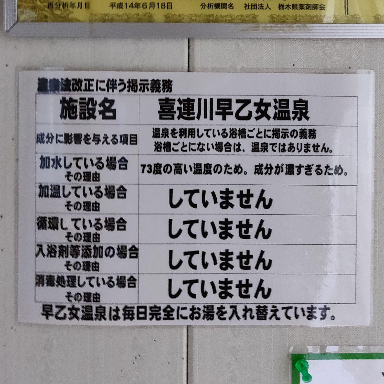 喜連川早乙女温泉 温泉の利用方法