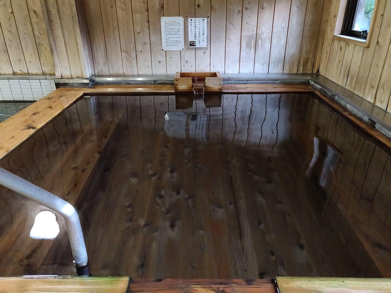 湯口側の浴槽