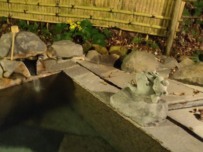 女湯露天風呂の蛙