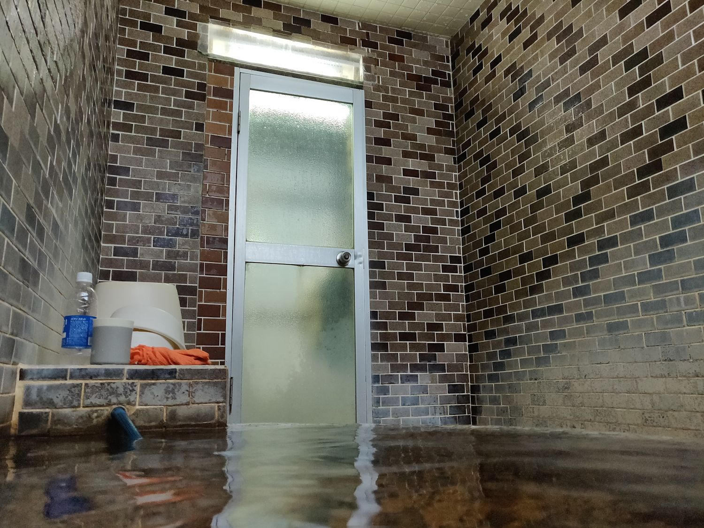 入浴中目線